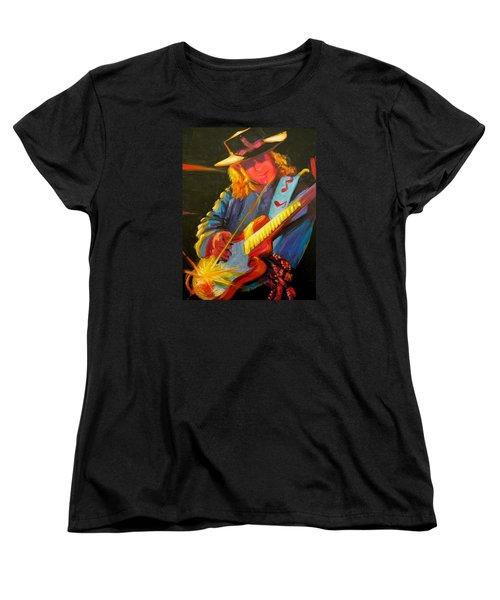 Stevie Ray Vaughn Women's T-Shirt (Standard Cut) by Jeanette Jarmon
