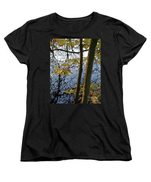 Still Waters In The Fall Women's T-Shirt (Standard Cut) by Andy Prendy