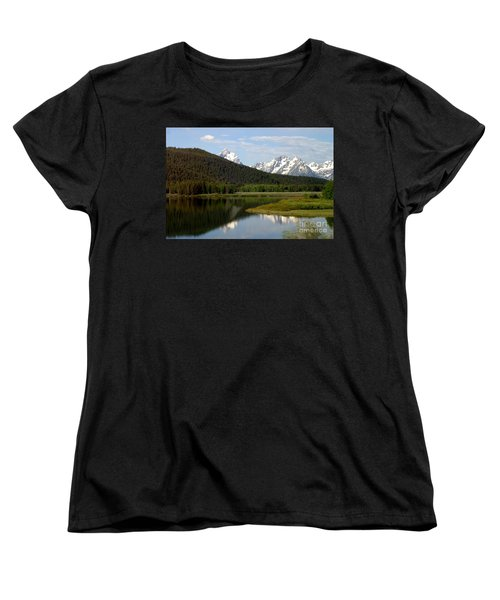 Still Waters Women's T-Shirt (Standard Cut) by Living Color Photography Lorraine Lynch