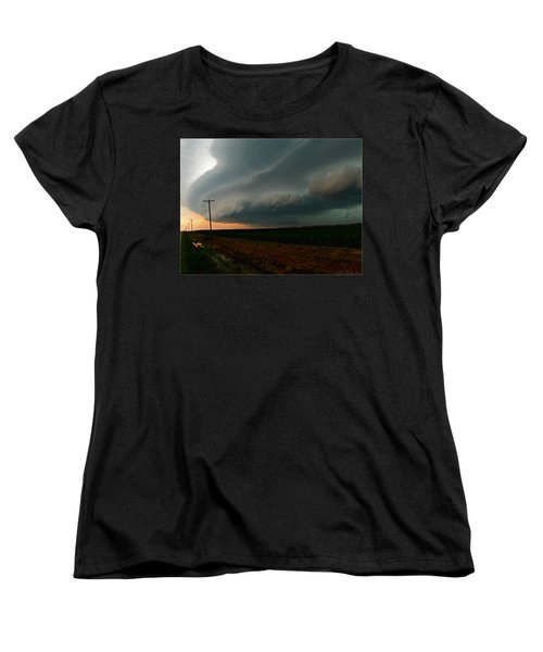 Women's T-Shirt (Standard Cut) featuring the photograph Storm Front by Debbie Portwood
