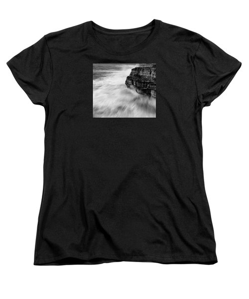 Women's T-Shirt (Standard Cut) featuring the photograph Stormy Sea 1 by Pedro Cardona