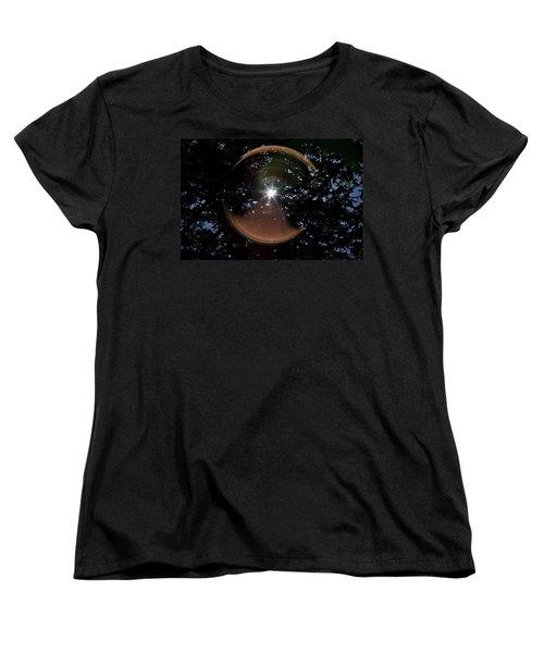 Women's T-Shirt (Standard Cut) featuring the photograph Sun Flair by Maj Seda