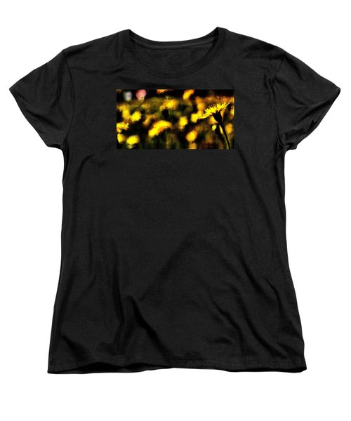 Women's T-Shirt (Standard Cut) featuring the mixed media Sun Worshiper by Terence Morrissey