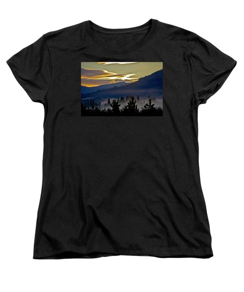 Women's T-Shirt (Standard Cut) featuring the photograph Sunrise And Valley Fog by Albert Seger