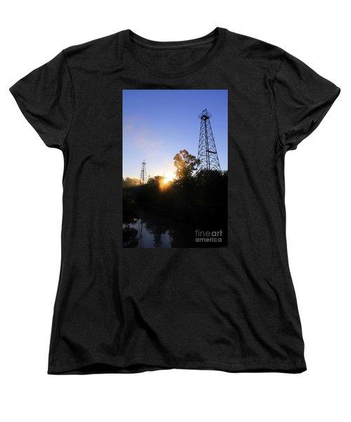 Sunrise On The Sabine Women's T-Shirt (Standard Cut) by Kathy  White