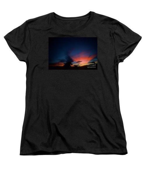 Sunset Leeward Oahu Women's T-Shirt (Standard Cut) by Mark Gilman