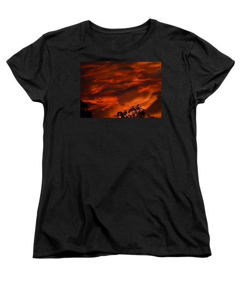 Women's T-Shirt (Standard Cut) featuring the photograph Sunset Over Altoona by DigiArt Diaries by Vicky B Fuller