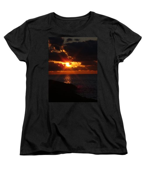 Women's T-Shirt (Standard Cut) featuring the photograph Superior Sunset by Bonfire Photography