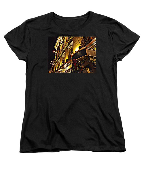 Women's T-Shirt (Standard Cut) featuring the photograph Swans Hotel by Marilyn Wilson