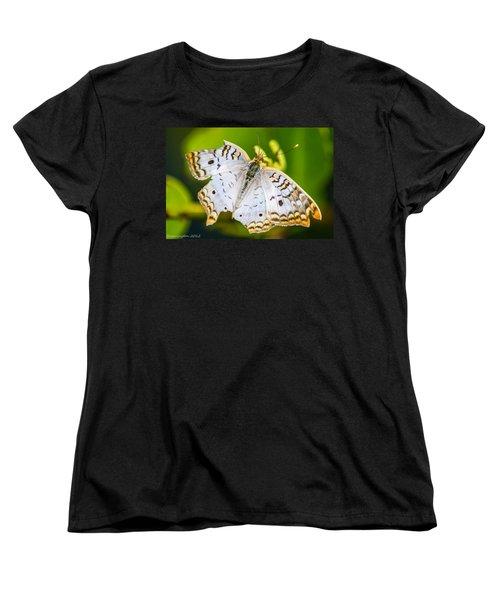 Women's T-Shirt (Standard Cut) featuring the photograph Tattered Moth by Shannon Harrington