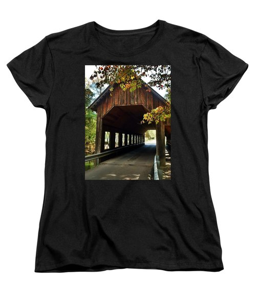 Women's T-Shirt (Standard Cut) featuring the photograph Tennesse Covered Bridge by Janice Spivey