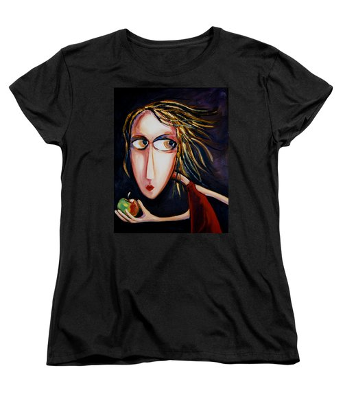 Women's T-Shirt (Standard Cut) featuring the painting The Apple by Leanne Wilkes