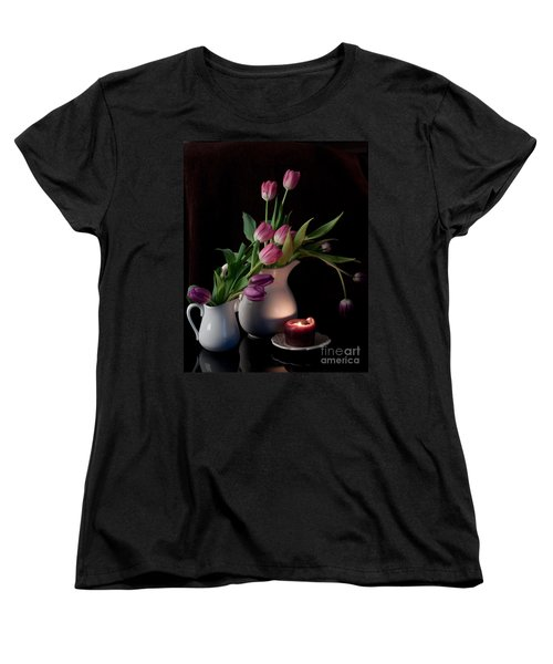 Women's T-Shirt (Standard Cut) featuring the photograph The Beauty Of Tulips by Sherry Hallemeier