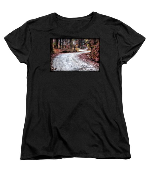 Women's T-Shirt (Standard Cut) featuring the photograph The Broken Road by Lynne Jenkins