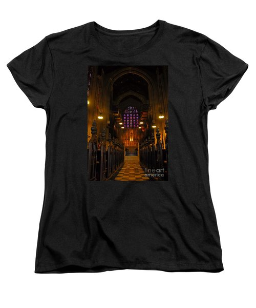 The Chapel At Valley Forge Park Women's T-Shirt (Standard Cut) by Cindy Manero