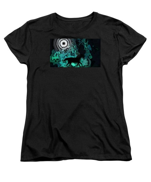 Women's T-Shirt (Standard Cut) featuring the photograph The Eclipsed Horse by Jessica Shelton