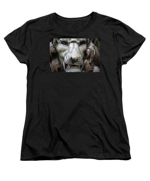 Women's T-Shirt (Standard Cut) featuring the photograph The Fierce Lion  by Kathy  White