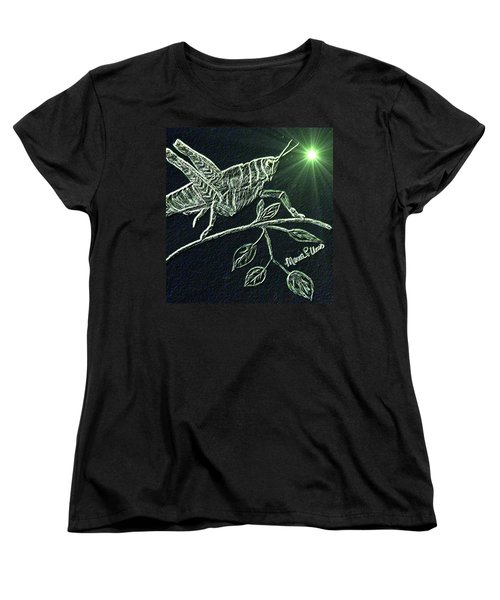 The Grasshopper Women's T-Shirt (Standard Cut) by Maria Urso