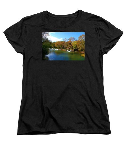 Women's T-Shirt (Standard Cut) featuring the photograph The Grist Big River by Peggy Franz