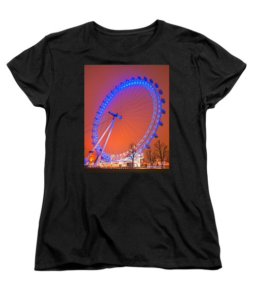 Women's T-Shirt (Standard Cut) featuring the photograph The London Eye by Luciano Mortula