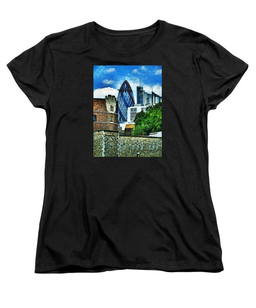 The London Gherkin  Women's T-Shirt (Standard Cut) by Steve Taylor