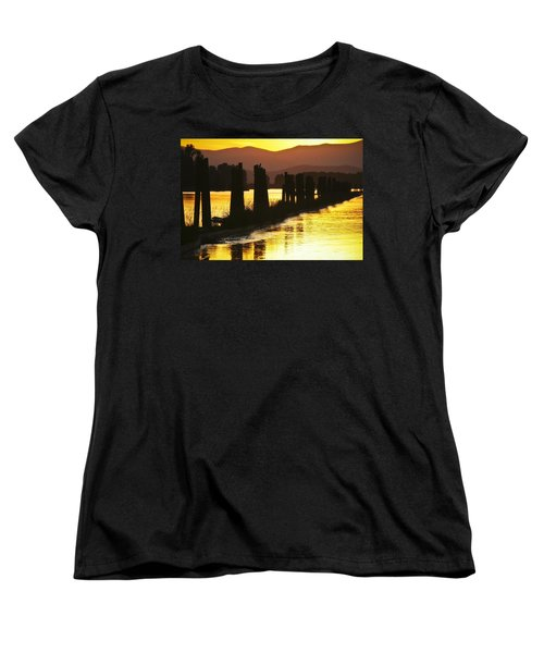 Women's T-Shirt (Standard Cut) featuring the photograph The Lost River Of Gold by Albert Seger