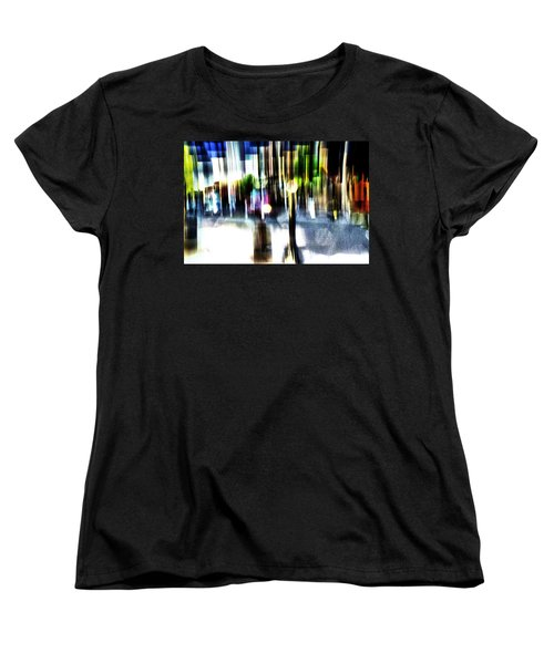 Women's T-Shirt (Standard Cut) featuring the mixed media The Man In The Door by Terence Morrissey