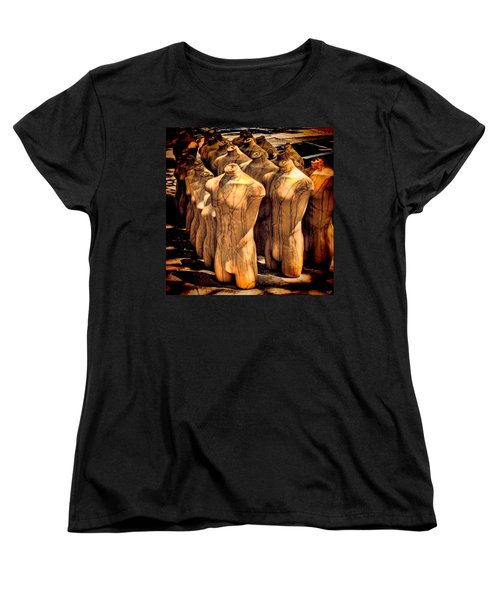 Women's T-Shirt (Standard Cut) featuring the photograph The Protest by Chris Lord