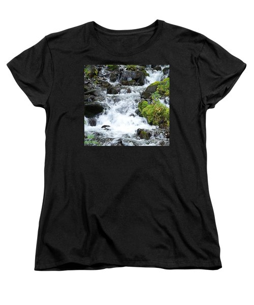 Women's T-Shirt (Standard Cut) featuring the photograph The Roadside Stream by Chalet Roome-Rigdon