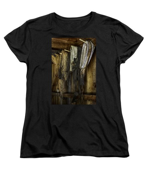 The Tack Room Wall Women's T-Shirt (Standard Cut) by Lynn Palmer