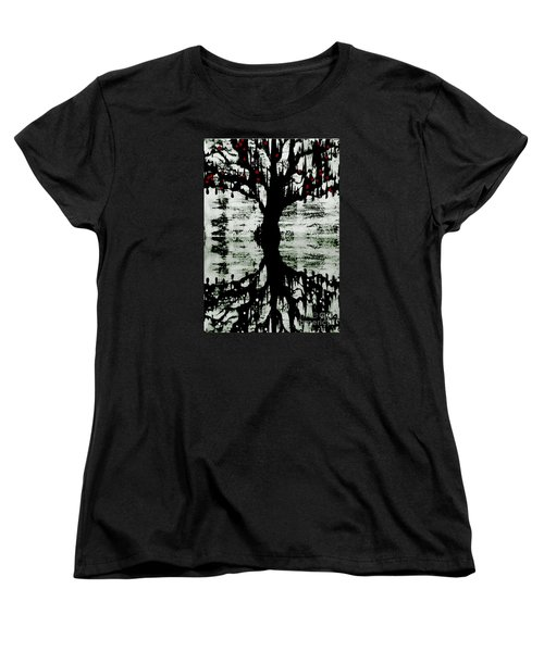 Women's T-Shirt (Standard Cut) featuring the painting The Tree The Root by Amy Sorrell