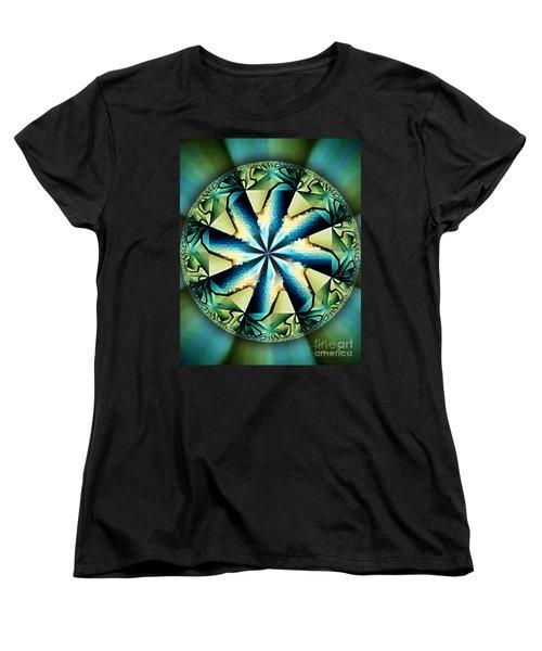 The Waves Of Silk Women's T-Shirt (Standard Cut) by Danuta Bennett