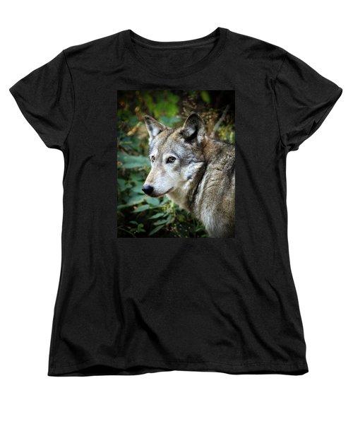 The Wolf Women's T-Shirt (Standard Cut) by Steve McKinzie