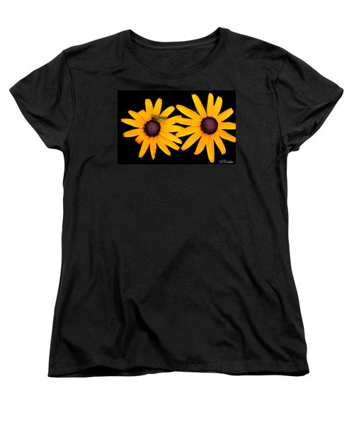 Women's T-Shirt (Standard Cut) featuring the photograph The Yellow Rudbeckia by Davandra Cribbie