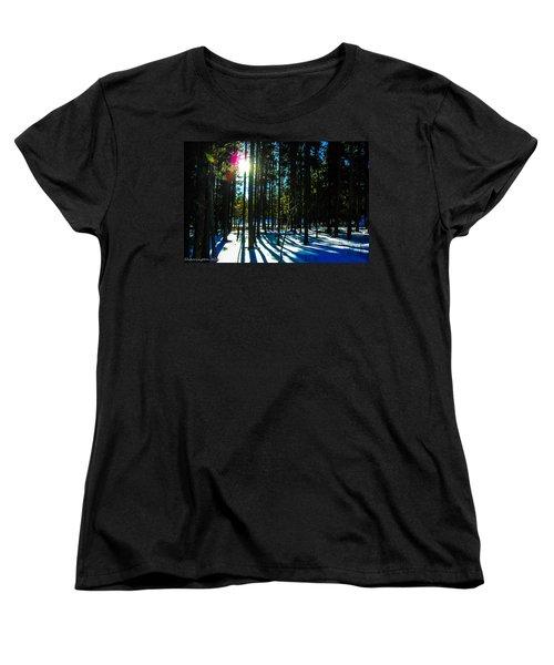 Women's T-Shirt (Standard Cut) featuring the photograph Through The Trees by Shannon Harrington