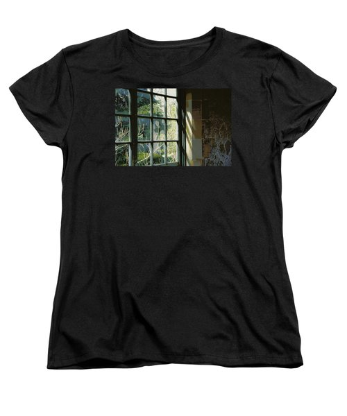 Women's T-Shirt (Standard Cut) featuring the photograph View Through The Window by Marilyn Wilson