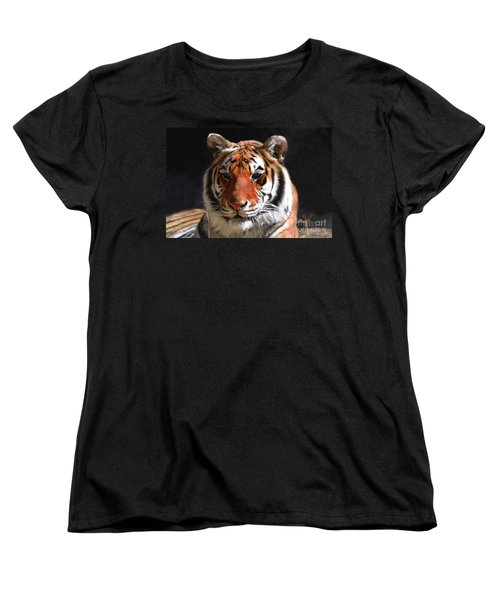 Tiger Blue Eyes Women's T-Shirt (Standard Cut)