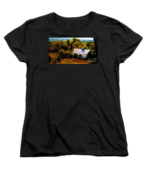 Women's T-Shirt (Standard Cut) featuring the photograph Touch Of Old Country by Peggy Franz