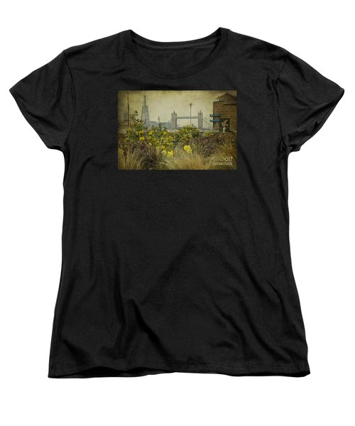Women's T-Shirt (Standard Cut) featuring the photograph Tower Bridge In Springtime. by Clare Bambers