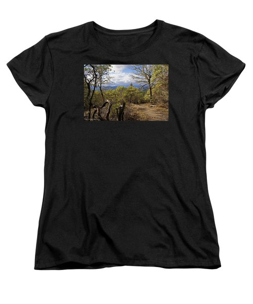 Trail At Cathedral Hills Women's T-Shirt (Standard Cut) by Mick Anderson