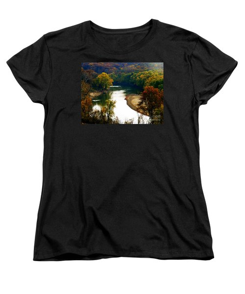 Women's T-Shirt (Standard Cut) featuring the photograph Tranquil View by Peggy Franz