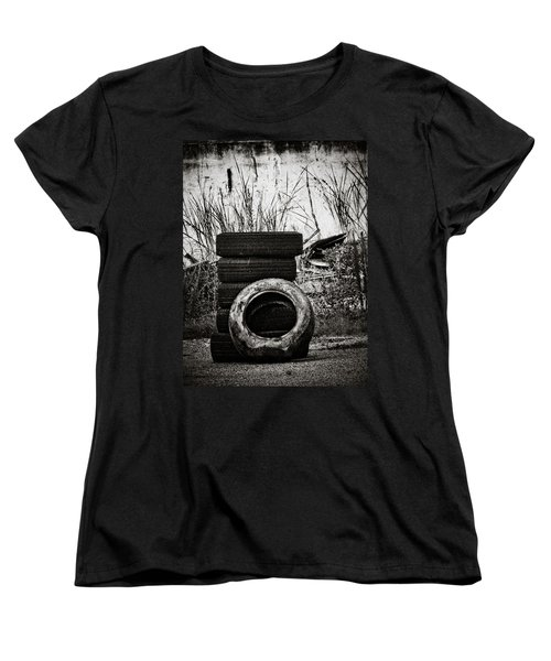Tread Lightly Women's T-Shirt (Standard Cut) by Jessica Brawley