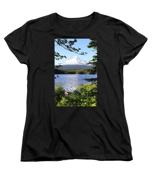 Women's T-Shirt (Standard Cut) featuring the photograph Trillium Lake At Mt. Hood by Athena Mckinzie