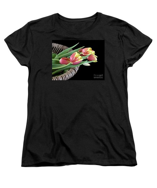 Women's T-Shirt (Standard Cut) featuring the photograph Tulips From The Garden by Sherry Hallemeier