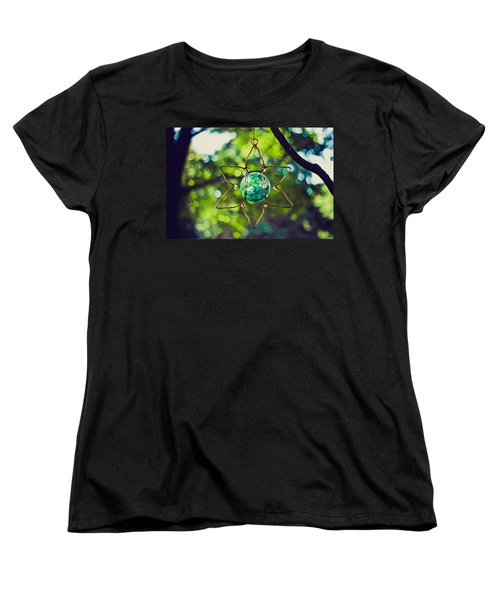 Women's T-Shirt (Standard Cut) featuring the photograph Turquoise Light by Sara Frank