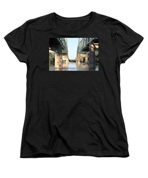 Women's T-Shirt (Standard Cut) featuring the photograph Twin Bridges by Elizabeth Winter