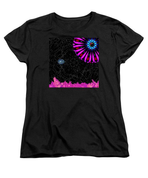 Women's T-Shirt (Standard Cut) featuring the digital art Unexpected Visitor by Alec Drake