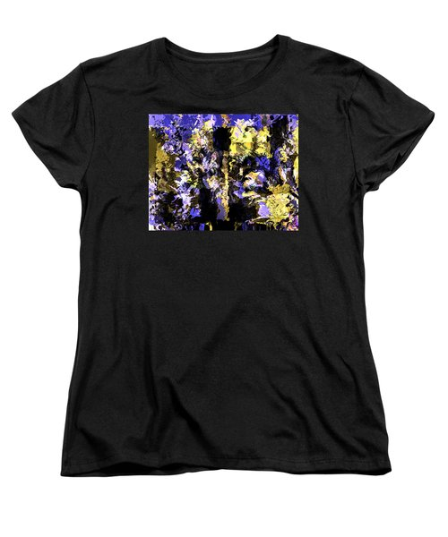 Women's T-Shirt (Standard Cut) featuring the mixed media Untitled Blue by Terence Morrissey