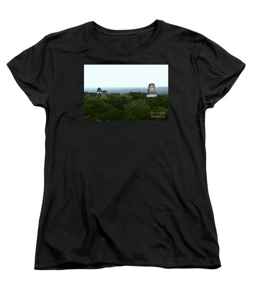 View From The Top Of The World Women's T-Shirt (Standard Cut) by Kathy McClure