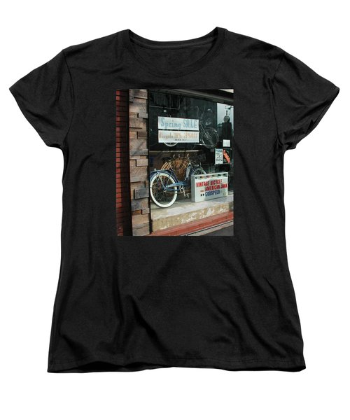 Vintage Bicycle And American Junk  Women's T-Shirt (Standard Cut)